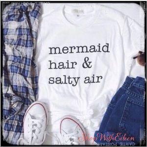 6cc6fedbfb8f Mermaid Hair & Salty Air Beach Graphic Tshirt. Boutique